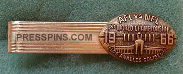 1967 Super Bowl I Press Pin (Tie Bar)