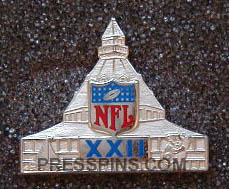 1988 Super Bowl XXII Press Pin