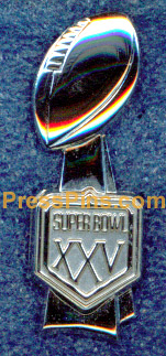 1991 Super Bowl XXV Press Pin
