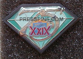 1995 Super Bowl XXIX Press Pin MAIN