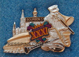 1997 Super Bowl XXXI Press Pin