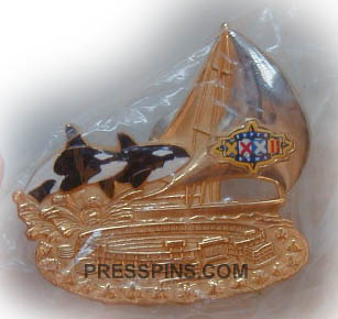 1998 Super Bowl XXXII Press Pin MAIN