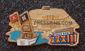 1999 Super Bowl XXXIII Press Pin