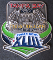 2009 Super Bowl XLIII Media Pin