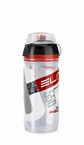 Elite Corsa MTB Water Bottle Clear With Red 550ml-Closeout