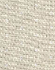 Fabric Flair French Polka Dots 32ct Natural White Stoney