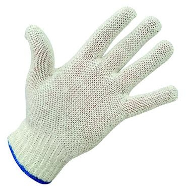 White Cotton String Knit Gloves - 1 doz. pair