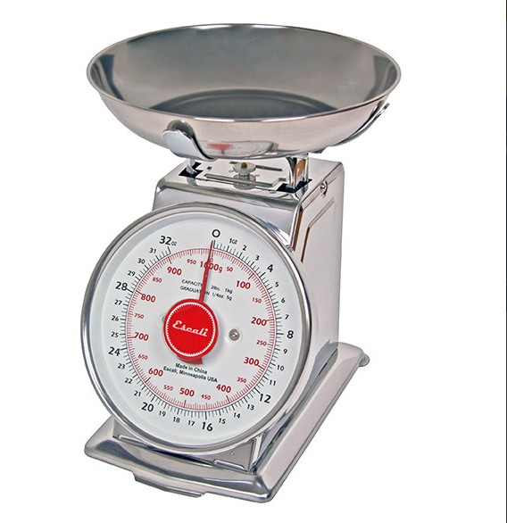 Escali Mercado DS21B Dial Scale with Bowl 2Lb