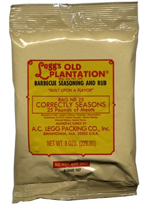 AC Leggs Old Plantation BBQ Seasoning and Rub