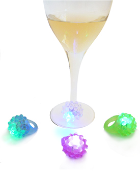 Handy wine glass markers - flashing light