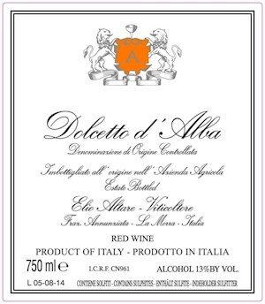 Label image - Altare Dolcetto d'Alba 2018 LARGE