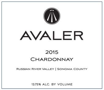 Avaler Wines 2016 Chardonnay Russian River Valley