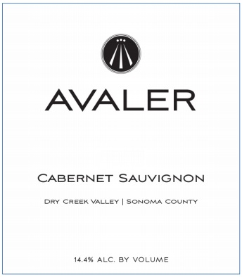 Avaler Wines 2015 Cabernet Sauvignon, Sonoma, Dry Creek Valley MAIN