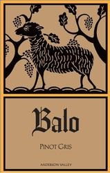 Balo Vineyards 2015 Pinot Gris $25.99