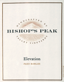 Bishop's Peak 2014 Elevation, Arroyo Grande Valley (Bordeaux Blend) THUMBNAIL