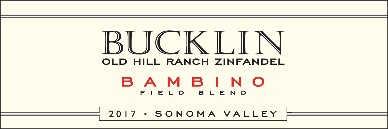 Wine Label - Bucklin 2017 Bambino Zin $23.99 THUMBNAIL