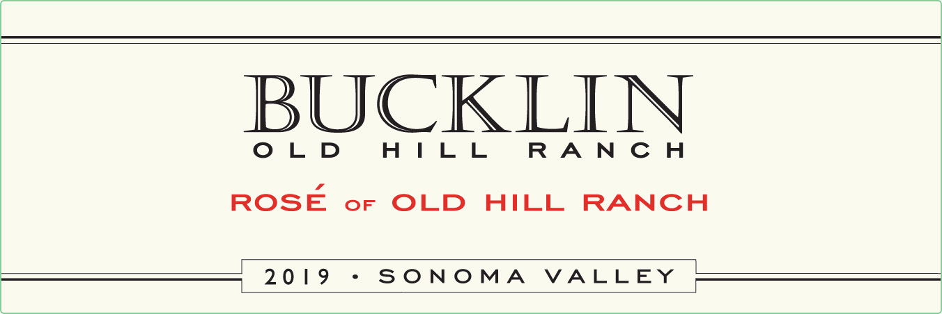 Wine Label - Bucklin 2018 Rose of Old Hill Ranch THUMBNAIL