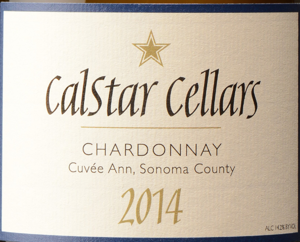 Wine Label - Calstar Cellars 2014 Chardonnay Cuvee Ann MAIN