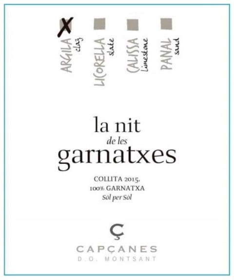 Wine Label - Cellars de Capcanes La Nit de les Garnatxes - Clay THUMBNAIL
