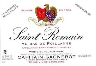 "Capitain-Gagnerot 2016 Saint Romain ""Au Bas de Poillange"" (Biodynamic)"