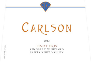 Wine label - Carlson 2014 Pinot Gris