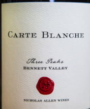 "Carte Blanche 2013 ""Three Peaks"" Bennett Valley"