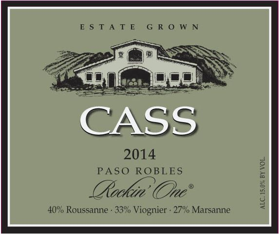 "Cass Winery 2014 ""Rockin' One"" Blanc - Label"