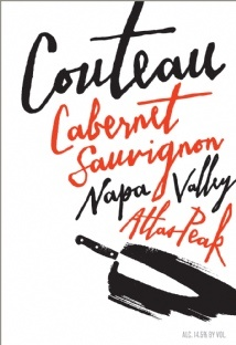 Label - Couteau Wines, 2011 Cabernet Atlas Peak $48
