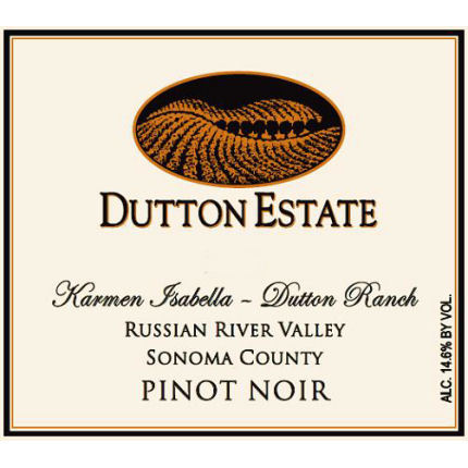 "Wine Label: Dutton Estate, 2014 Pinot Noir ""Karmen Isabella"""