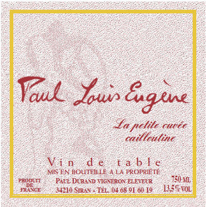 Dom. Paul Eugene, 2007 Petite Cuvee Cailloutine (Cinsault/Pinot!)