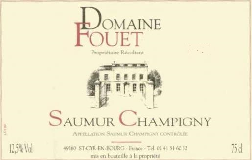Domaine Fouet 2015 Saumur-Champigny Loire Valley Red