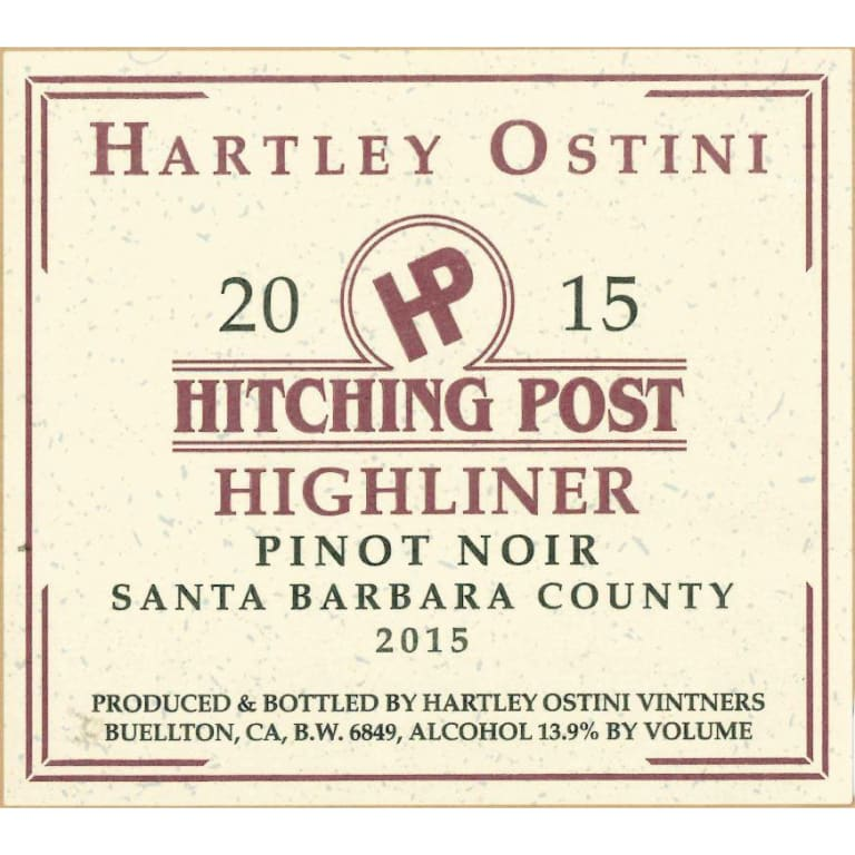 Hitching Post Wines 2015 Highliner Pinot Noir Santa Barbara County MAIN