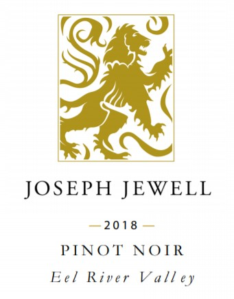 Wine Label - Joseph Jewell, 2019 Pinot Noir Eel River Appellation, Humboldt County THUMBNAIL