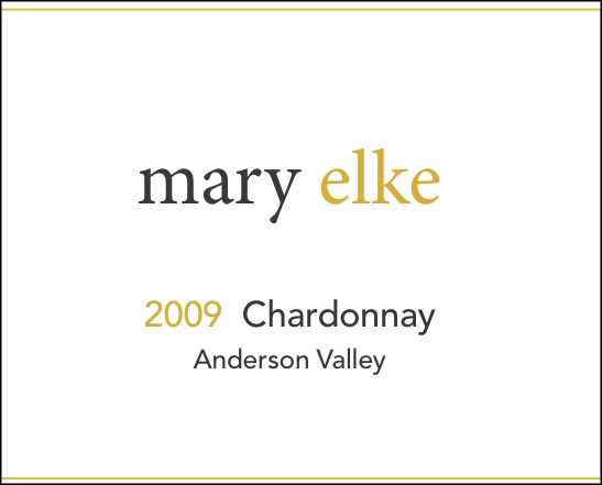 label image - elke vineyards, 2015 Anderson Valley Chardonnay white wine