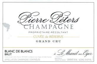 Champagne label - Pierre Peters Cuvee de Reserve $63