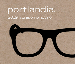 Wine Label: Portlandia 2019 Pinot Noir HALF BOTTLE LARGE