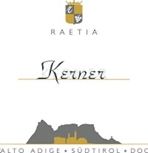 Wine Label, Raetia Kerner (Alto Adige white wine) $17.99 LARGE