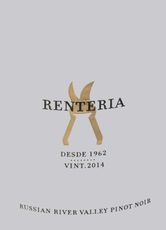 Renteria Wines 2014 Pinot Noir Russian River Valley