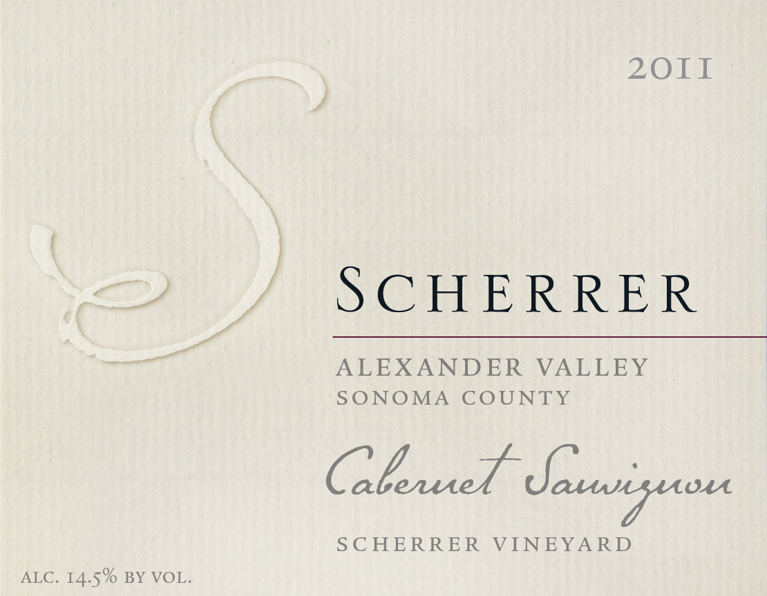 Wine Label Image - Scherrer Winery 2011 Cabernet Sauvignon $44.99 MAIN