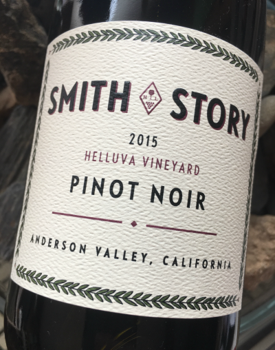 Smith Story 2015 Pinot Noir Helluva Vineyard Anderson Valley