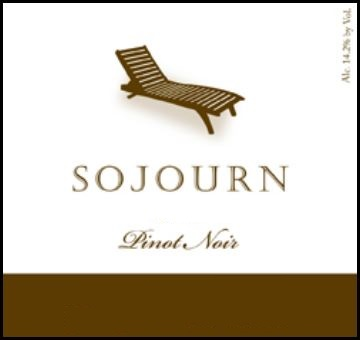 wine label - 201 Sojourn Cellars Pinot Noir, Rodgers Creek Vineyard $48