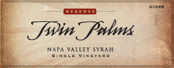 Twin Palms 2014 Syrah Napa Valley