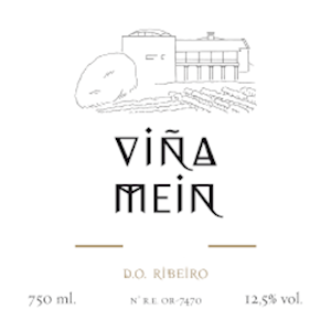 Wine label: Vina Mein Ribiero white wine blend from Spain's Galicia region LARGE
