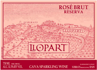Wine Label: Llopart 2016 Brut Cava Rose Reserva MAIN