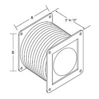Hammond 1485cff Nema 12 Flexible Fitting For Lay In