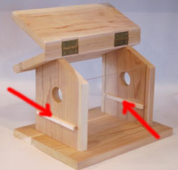 Hopper Style Cedar Bluebird Feeder For Sale