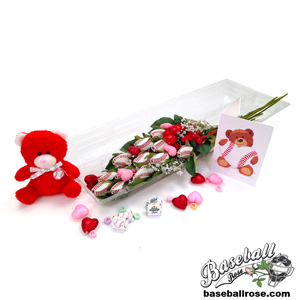 "Baseball Rose Valentine's Day ""Grand Slam"" Bouquet"
