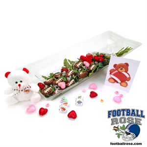 "Football Rose Valentine's Day ""Hail Mary"" Bouquet"