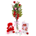 Baseball Rose Valentine's Day Vase Arrangement Mini-Thumbnail