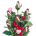 Football Rose Valentine's Day Vase Arrangement Mini-Thumbnail
